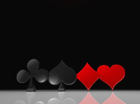 Clubs, spades, hearts and diamonds photo