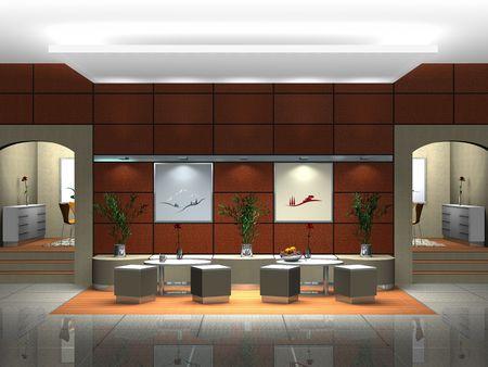 recepcion: Procesamiento de una escena interior mostrando un sal�n o restaurante
