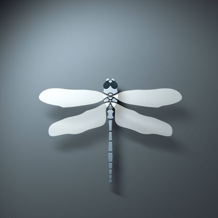 Rendering of a stylized dragonfly form above Stock Photo - 7920022