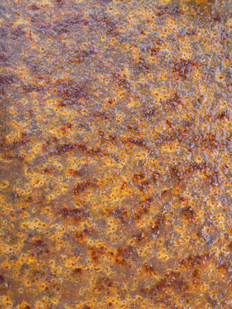 corten: wet rusty iron Stock Photo