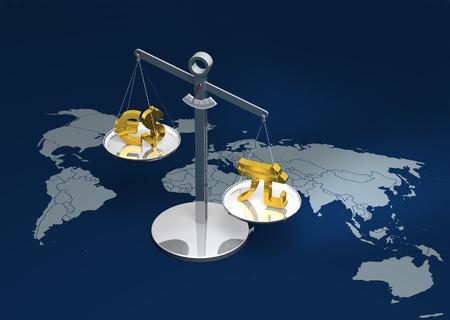 Yuan versus Dollar and Euro photo