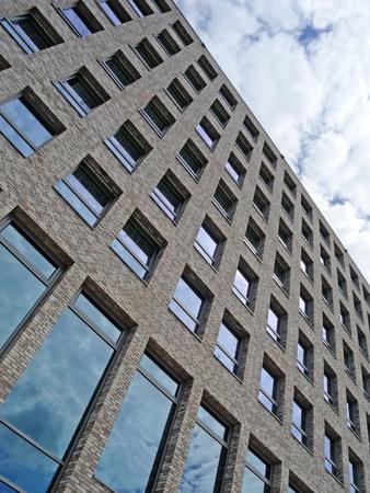 clinker: facade of a modern brick building Stock Photo
