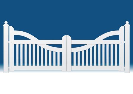 symbol fence: garden gate