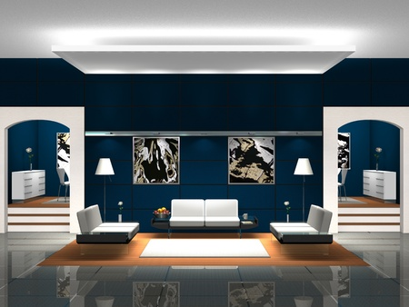 lounge room: Blue Lobby