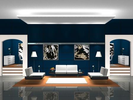 suite: Blue Lobby
