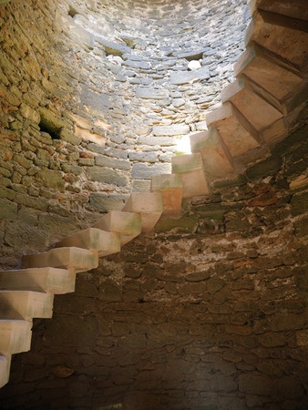 ancient prison: winding staircase