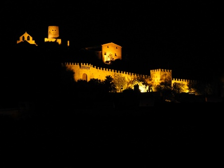 crenelation: Capdepera Castle by night