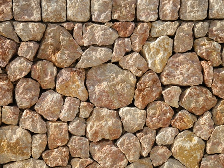 dry stone: dry stone wall Stock Photo