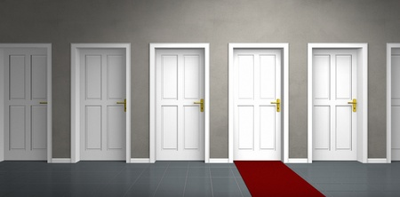 disparity: door of a very important person Stock Photo