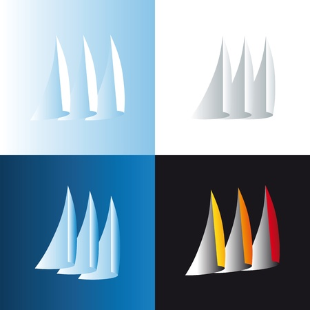 bloated: sailing icon Illustration