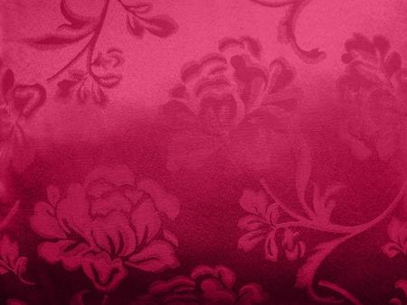 purple silk: floral cloth Stock Photo