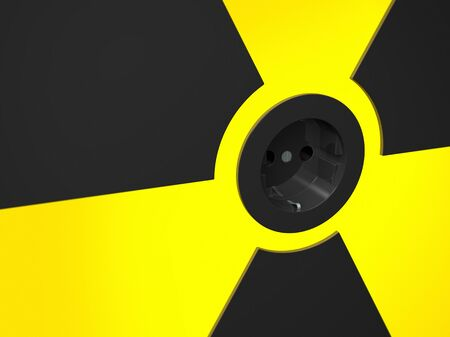 socket in the center of  the nuclear power symbol Stock Photo - 11386615