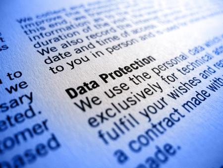 data protection small print Reklamní fotografie