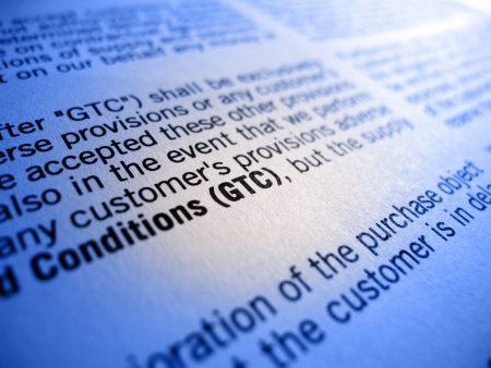 GTC General Terms and Conditions Stock Photo - 12357682
