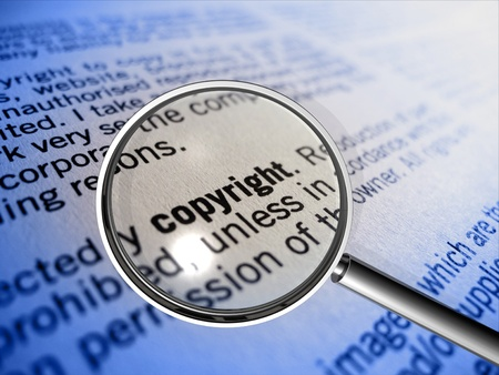 plagiarism: copyright in focus Stock Photo