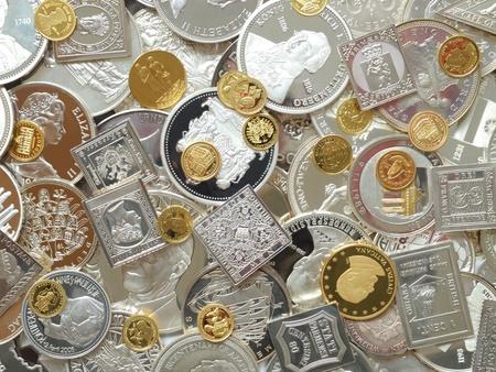 Silber und Gold Lizenzfreie Bilder