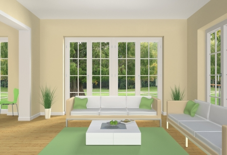 pastell colored living room Stock Photo - 14042959