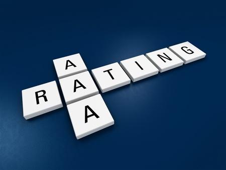 downgrade: metaphorical image concerning credit rating AAA Stock Photo