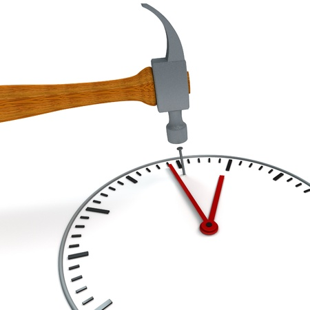 spare time: stop the time - metaphorical image concerning stress Stock Photo