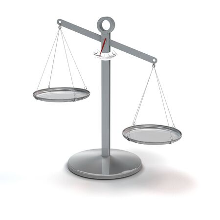 uneven: scale not in balance - rendering Stock Photo