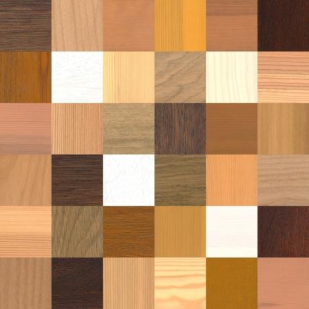 une grande quantité d'échantillons de bois différents Banque d'images