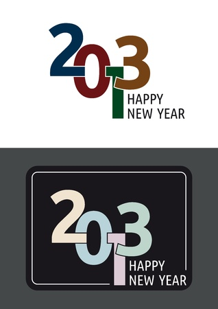 Happy New year 2013 emblem Vector