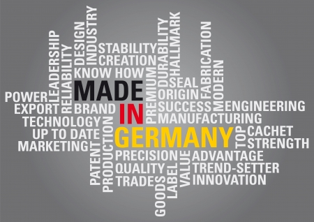 Made in Germany with all the benefits Stock Vector - 16674677