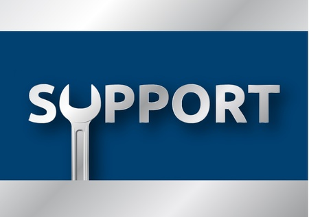 support Icon - the U is an open-end wrench Illustration