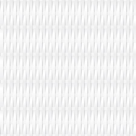 wickerwork: seamless white corrugated wickerwork background texture