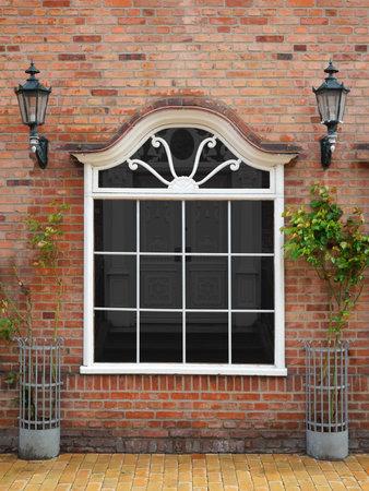 clinker: bella finestra antica negozio modificabile - il file include un tracciato di ritaglio per il contenuto della finestra