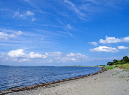 a beautiful beach at the baltic sea near by Kiel photo
