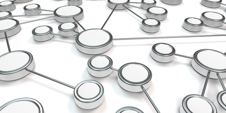 network switch: conceptual 3d network image as a symbolical illustration for modern information technology Stock Photo