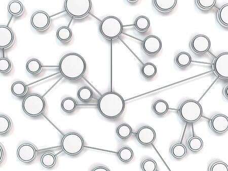 nodes: conceptual 3d network image as a symbolical illustration for modern information technology Stock Photo