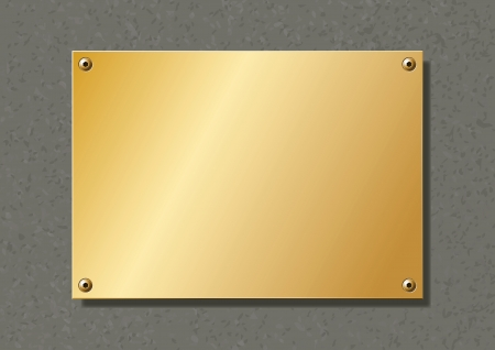 editable brass company plate fixed with allen screws Reklamní fotografie - 25318680