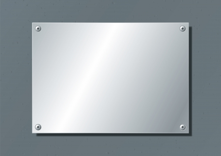 silver: editable aluminum company plate fixed with allen screws