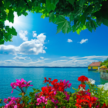 lake house: beautiful view over the Lake Constance in Meersburg, Germany
