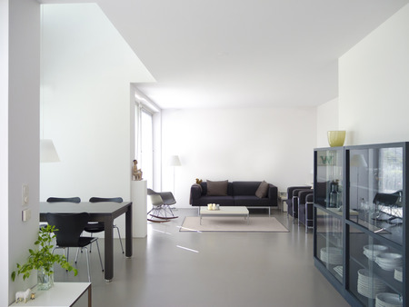 modern private living and dining room with copy space for your own images 免版税图像