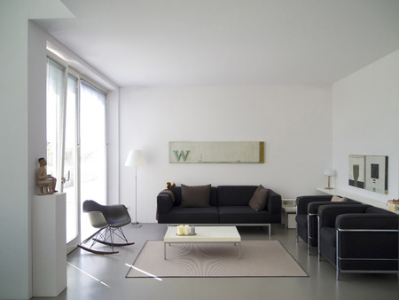 modern private living room with copy space for your own images Standard-Bild