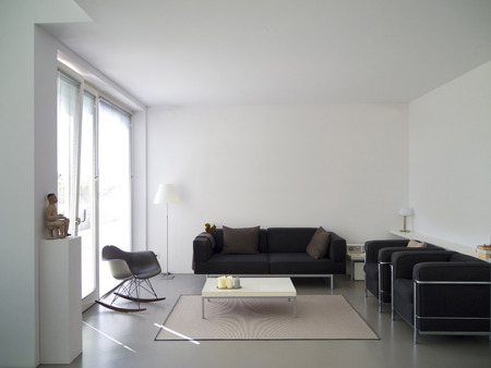 modern private living room with copy space for your own images 写真素材