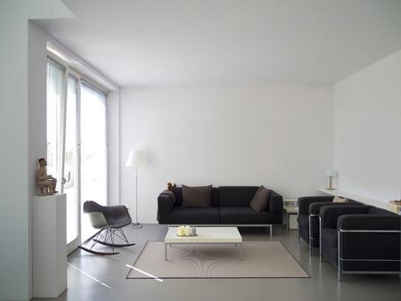 moderne private Wohnzimmer mit Kopie Platz für Ihre eigenen Bilder