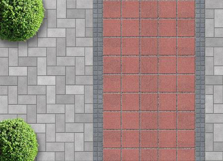 Außen Detail in Luftbild mit durchlässigen Pavier