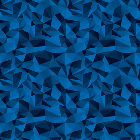 deep blue: seamless vector polygonal deep blue relief background Illustration