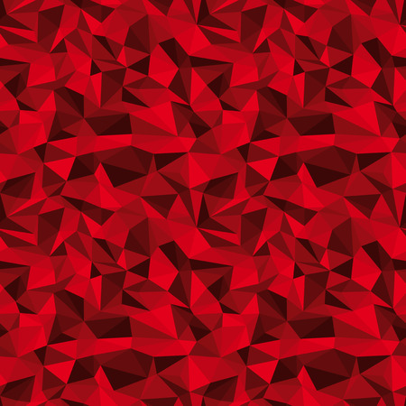prism: seamless red vector polygonal deep relief background