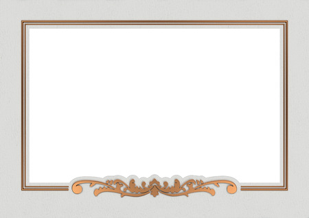 acanthus: vintage copper frame background with copy space Stock Photo