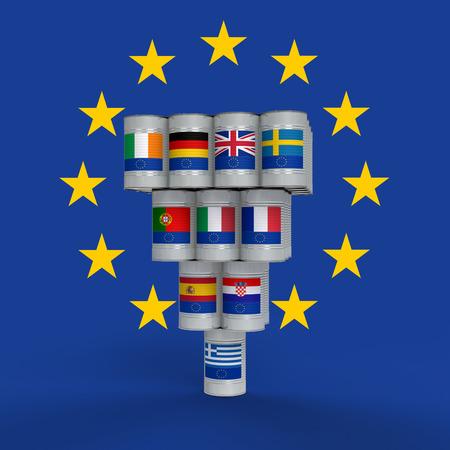 pacto: peligro para la estabilidad de europa grecia Causada por Foto de archivo