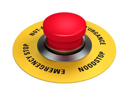 salida de emergencia: botón de parada de emergencia para interrumpir la producción industrial