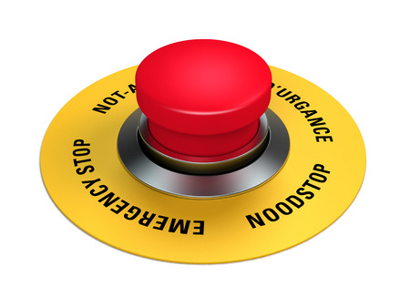 emergency stop button to interrupt industrial production