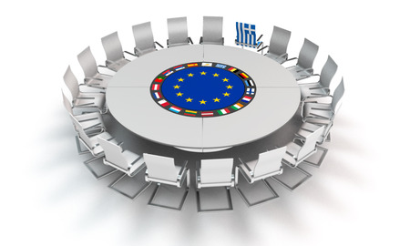 concerning: metaphorical image concerning the situation of greece and the european union