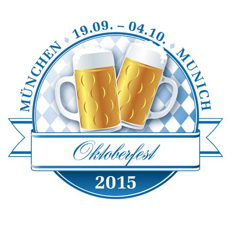 m�nchen: Oktoberfest munich beer festival vector pictogram