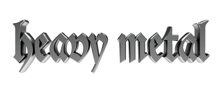heavy metal: heavy metal in gothic metallic typography